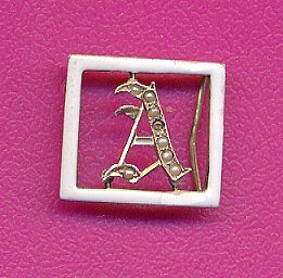 Antique Initial A Slide